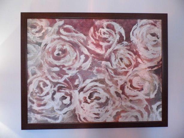 """Obraz akrylowy. Wymiary : wys.110 x szer.140 cm. Temat """"róże"""""""