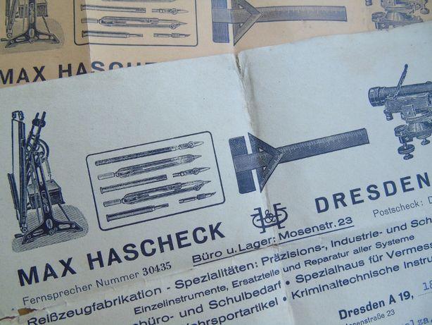 Max Hascheck Kruszwica faktury 1943 rok