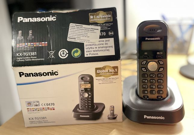 Telefon stacjonarny bezprzewodowy PANASONIC KX-TG1381