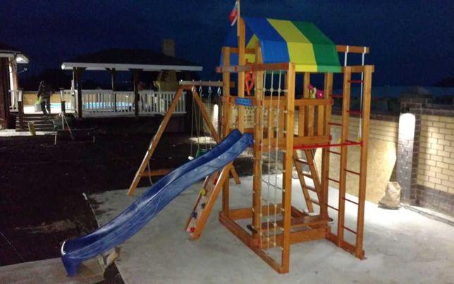 Детская деревянная игровая площадка , дитячий майданьчик