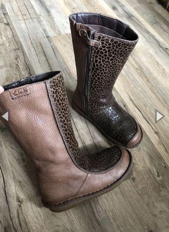 Кожаные ботинки Clarks р.27 оригинал