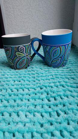 Чашки с ручной росписью