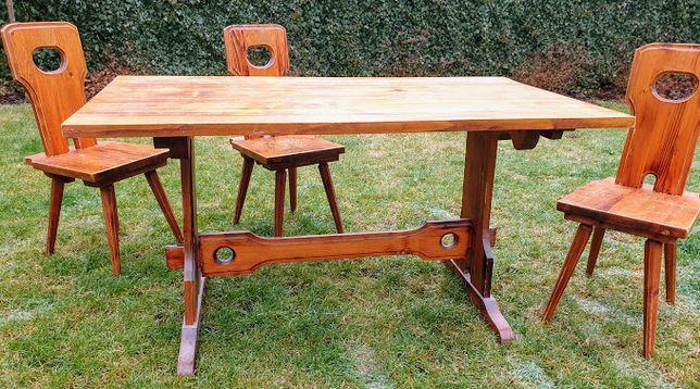 Stół z krzesłami Cepelia Łódź