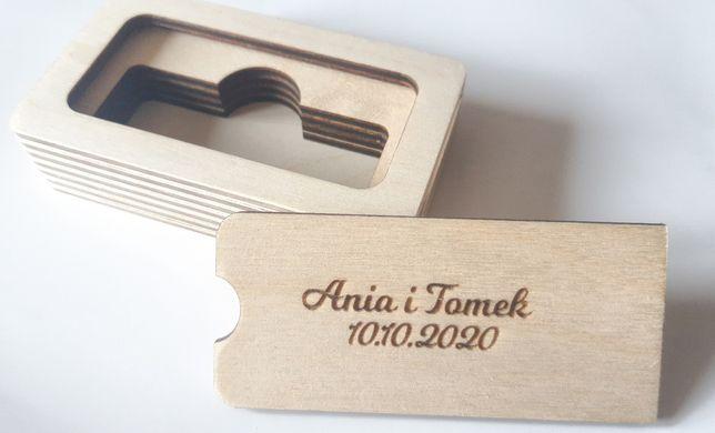 Drewniane pudełko na pendrive GRAWER styl rustykalny