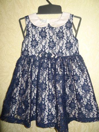 Нарядное платье 110р. кружевное