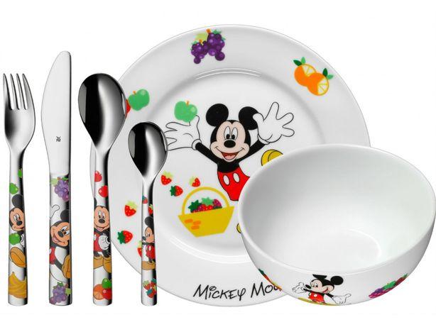 Набор детской посуды WMF Mickey Mouse Набір дитячий Столовый приборы