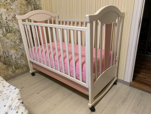 Детская кроватка - качалка ROSE DREAMS