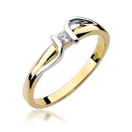 Złoty pierścionek z brylantem HIT!