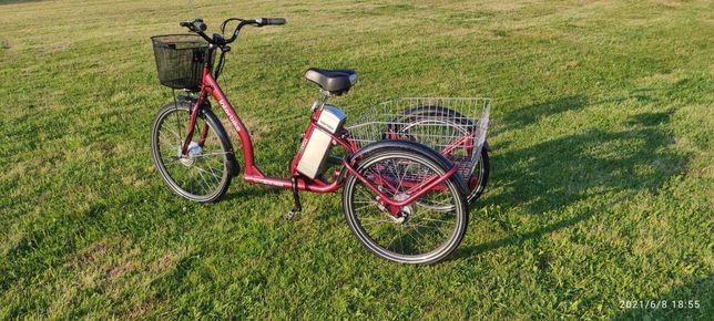 Rower trójkołowy ze wspomaganiem elektrycznym