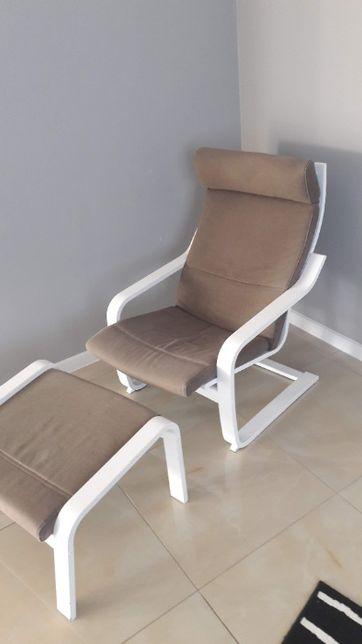 Fotel Poäng IKEA + podnóżek