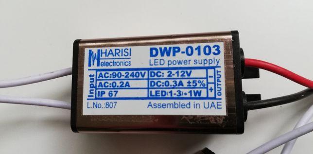 Драйвер светодиода DWP-0103 12V 1W 300mA