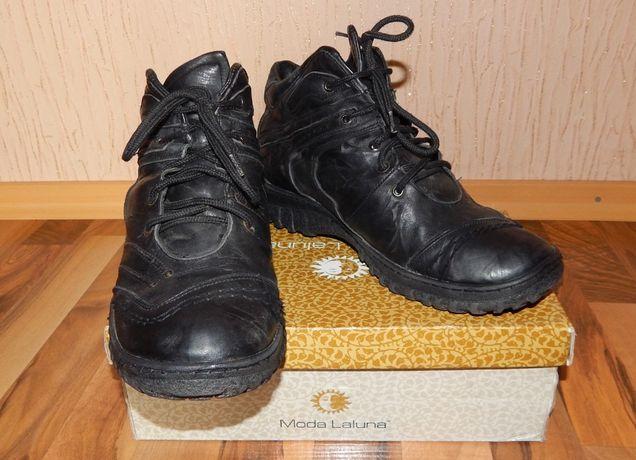 Зимние кожанные ботинки на цигейке