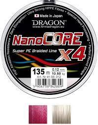 Plecionka Dragon NanoCore X4 czerwona 1000m 0.18mm