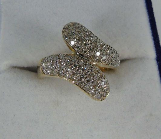 Золотое кольцо с бриллиантами 500 проба