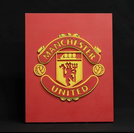 3D постер из фанеры Manchester United
