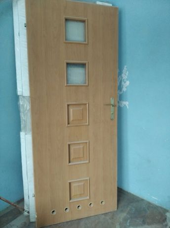 Drzwi używane do łazienki 80,lewe