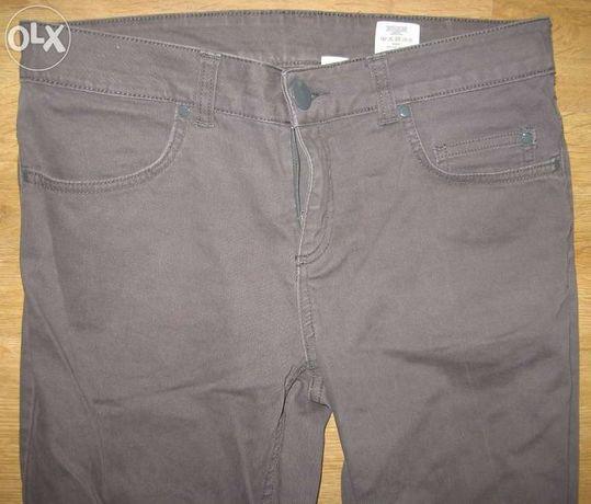Jeansy dżinsy szare grey popielate H&M 42 XL rurki jeans idealny stan