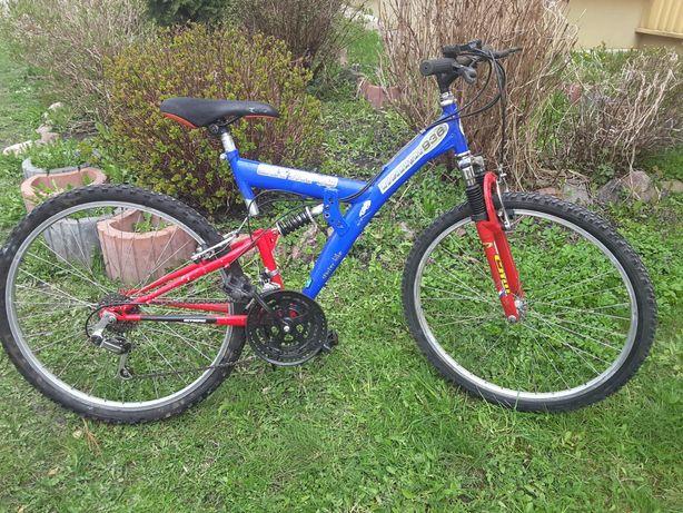 Rower z dwoma amortyzatorami odnowiony