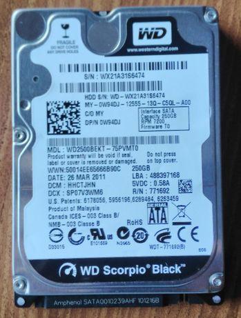 Disco WD Scorpio Black sata 7200 RPM 2,5 - 250 gigas