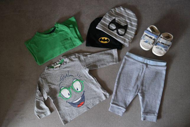 Chłopiec 62 Bluzeczki spodenki Next czapeczki Cool Club Batman buciki