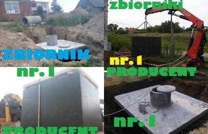 Zbiornik Mocny betonowy na gnojówkę, ścieki szambo betonowe 9m3