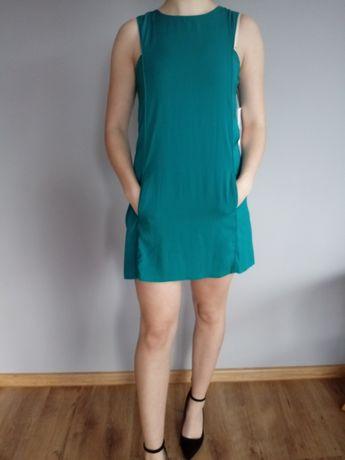 Sukienka zielona ZARA z metką