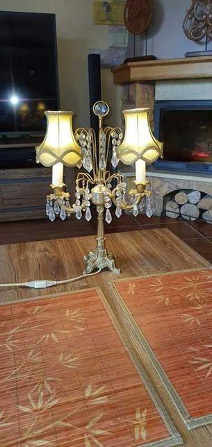 Lampa stojąca z kryształkami w stylu retro