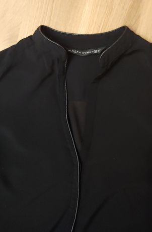 Czarna elegancka bluzka ZARA XS
