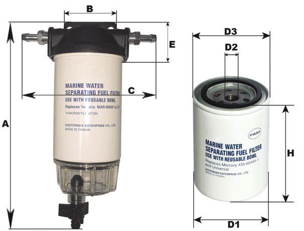 Filtro de Combustível / Separador de Água barcos