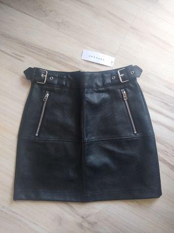 NOWA Skórzana spódniczka mini