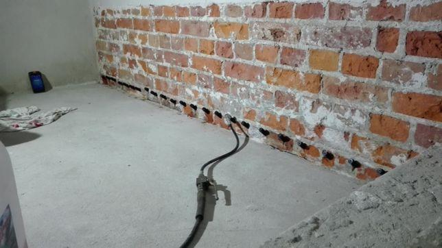 Hydroizolacje iniekcje krystaliczne żywiczne osuszanie budynków piwnic
