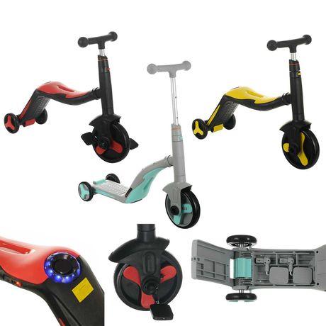 Cамокат-велобег-велосипед 3 в 1  8 мелодий, колёса