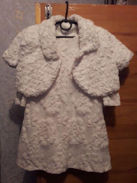 Платье(нарядное, новогодний костюм снежинки, снежной королевы)