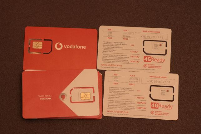 Стартовый пакет Vodafone 4G Smart XS за 35 грн/месяц 1 ГБ / Безлимит