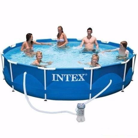 Каркасный бассейн басейн Intex 366x76 см с насосом