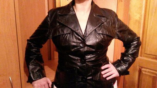 !продам кожанную куртку-весна, осень