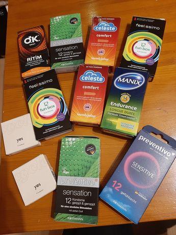 Prezerwatywy z Niemiec różne smaki I rodzaje 105 sztuk plus gratisy