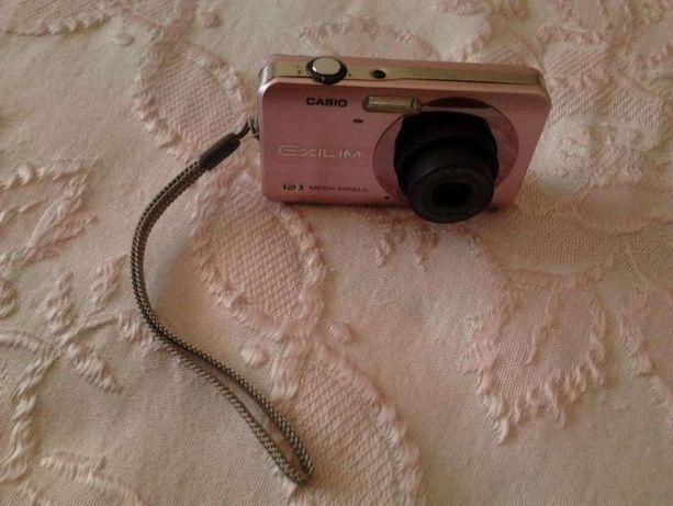 Maquina fotográfica casio de 12.1 mpx - cor de rosa