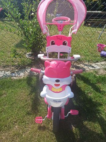 Rower trójkołowy dla dzieci, dziewczynki, 3 kołowy, do 25 kg, grający