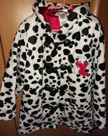Futro, futerko dziewczynka 7-8 lat dalmatyńczyk, kropki Disney