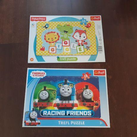 Puzzle Tomek i przyjaciele oraz Trefl puzzle