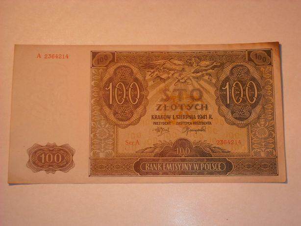 100 złotych 1941 seria A