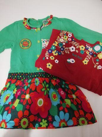 Vestido + blusa Tuctuc menina