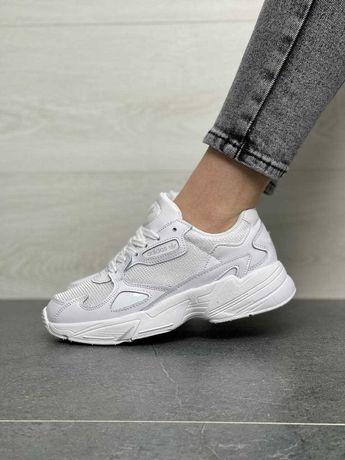 В1168 Adidas Falcon White кроссовки адидас фалкон кросовки кеды женски