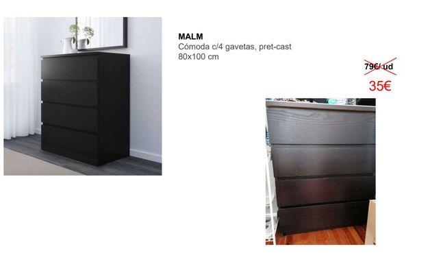 Cómoda MALM IKEA 4 gavetas