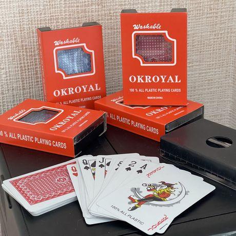 Игровые пластиковые карты для покера (есть 2 цвета рубашки)