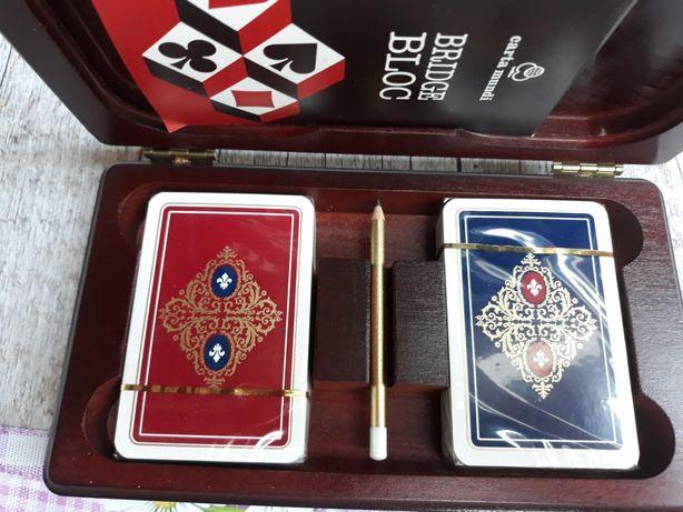 Zestaw kart do brydża i pokera z żetonami inne rzeczy loft desing
