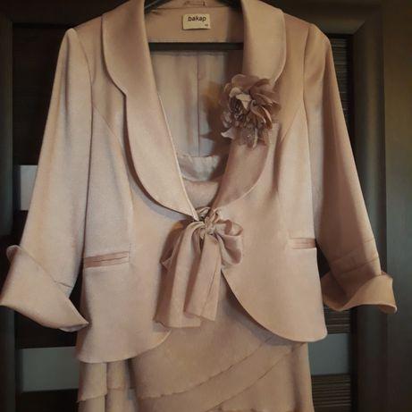 Komplet 3 częściowy:żakiet,bluzka,spódnica