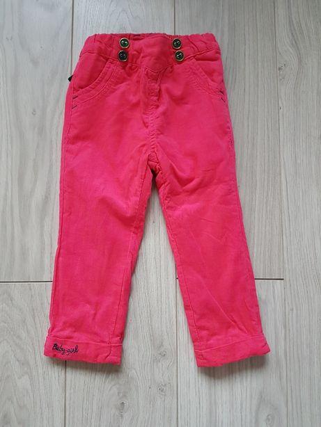 Spodnie Coccodrillo na podszewce r. 86