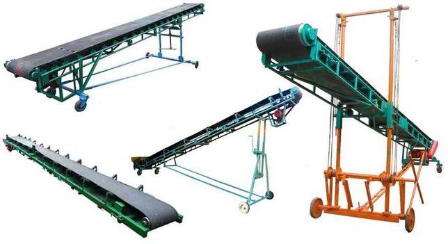 Ленточный конвейер транспортёр для зерна щепа (стрічковий)